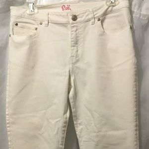 Lilly Pulitzer Jeans - Lilly Pulitzer White Capri Jeans